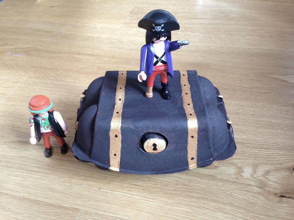 Egg Carton Pirate Treasure Chest Red Kite Days