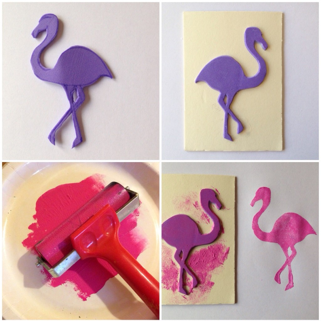 how to make a flamingo print bag