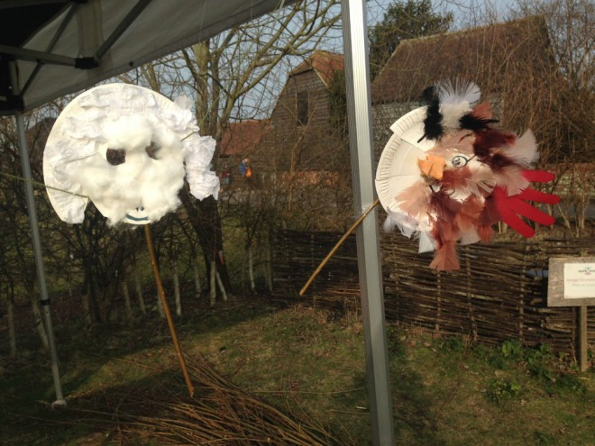 sheep masks, the earth trust event crafts, paper plate masks