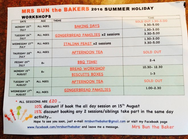 summer holiday, cooking classes, kids