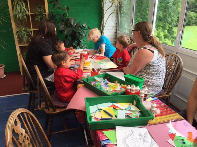 creation station, thame, preschool, art