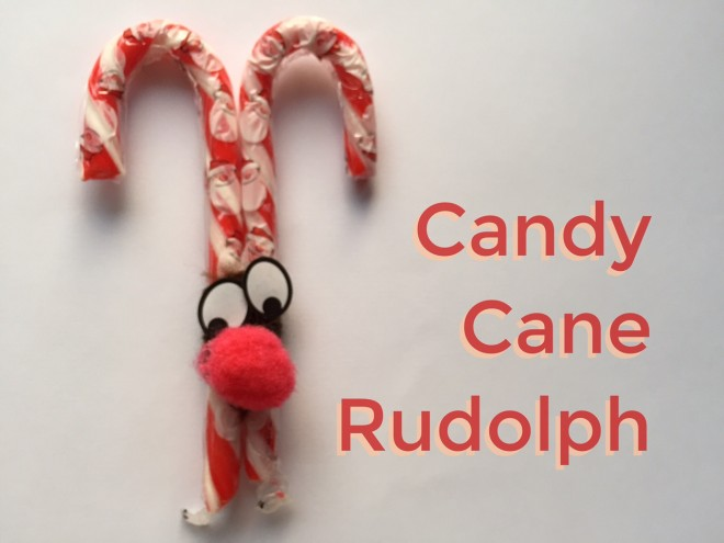 candy cane, rudolph, Christmas kids crafts, easy