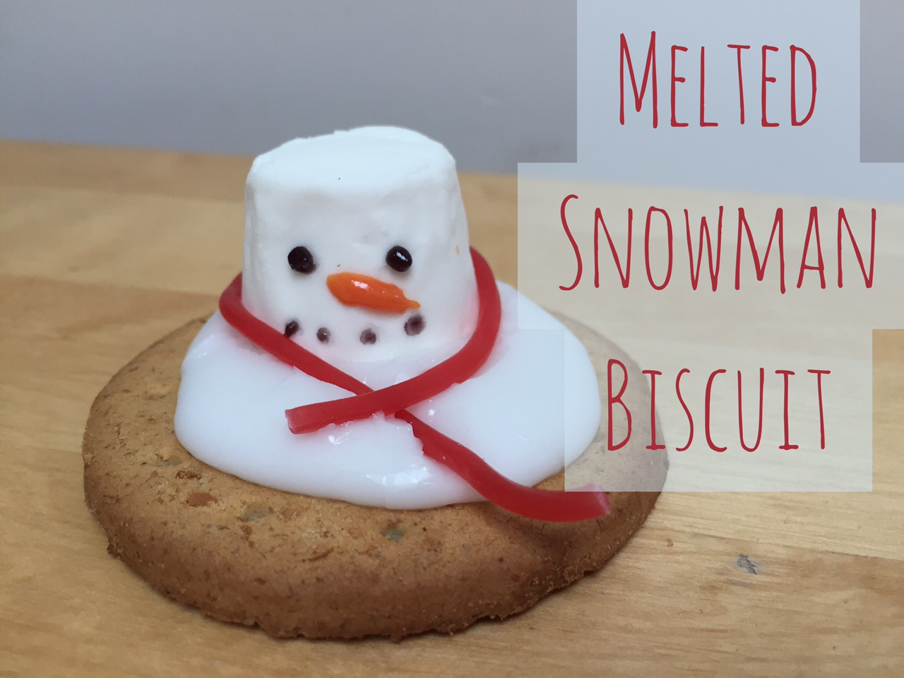 Melting Marshmallow Snowman Biscuit Red Kite Days