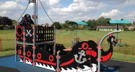kidlington, playpark, football ground, kids, oxfordshire, pirate ship