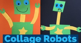 collage, robot, paper craft, kids paper craft