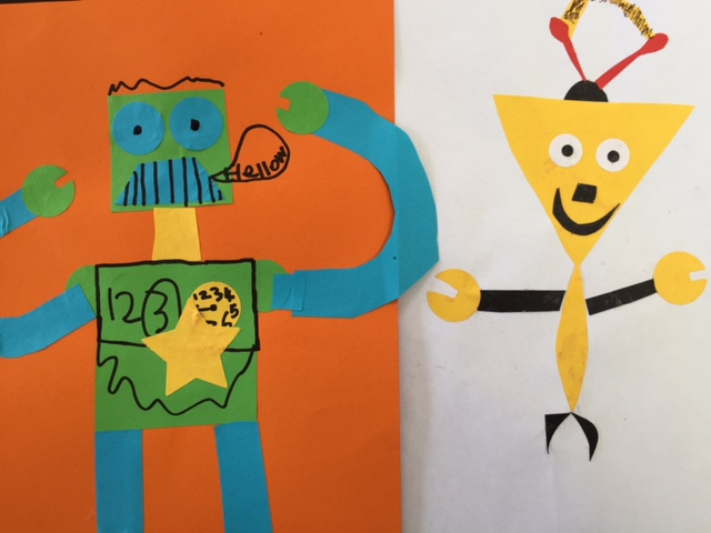 collage, robot, papercraft, kids craft