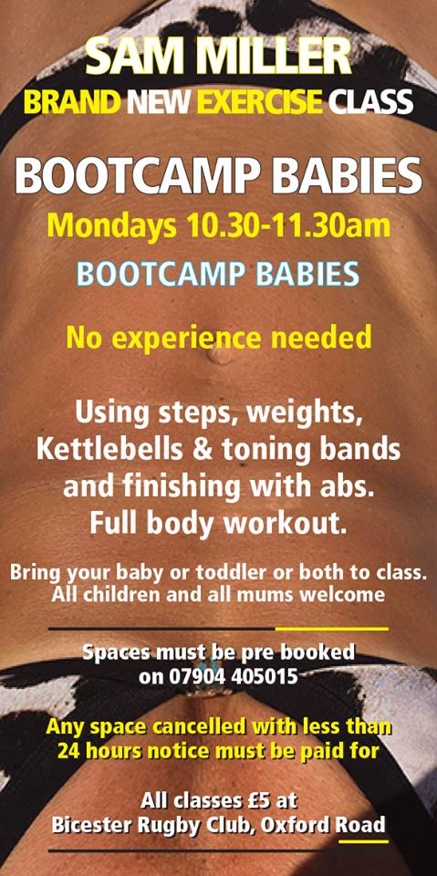 exercise class with kids, get fit after birth, bicester, oxfordshire, sam miller