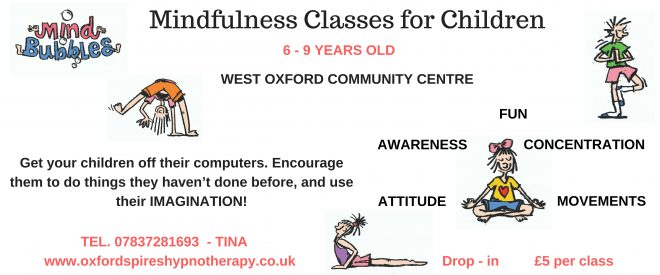childrens mindfulness classes, class for children in oxford, mindfulness oxford