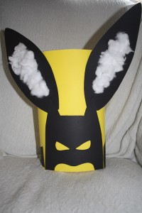 batman, bunny ears, easter hat, kids craft