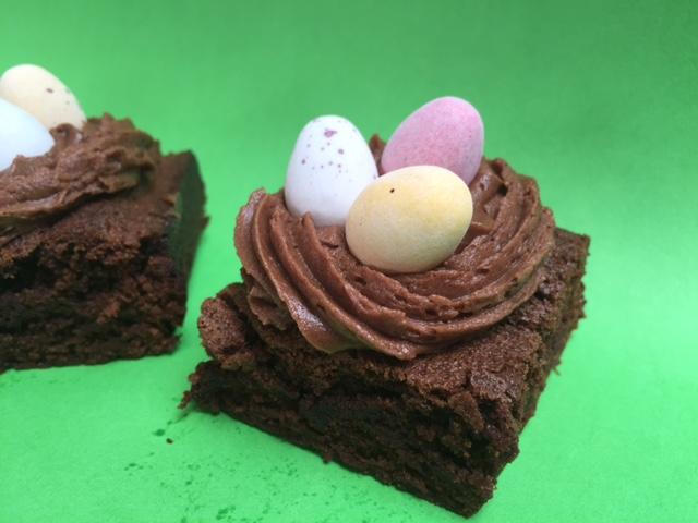 easy chocolate brownie, easter, bake sale, school cake sale, easter recipes