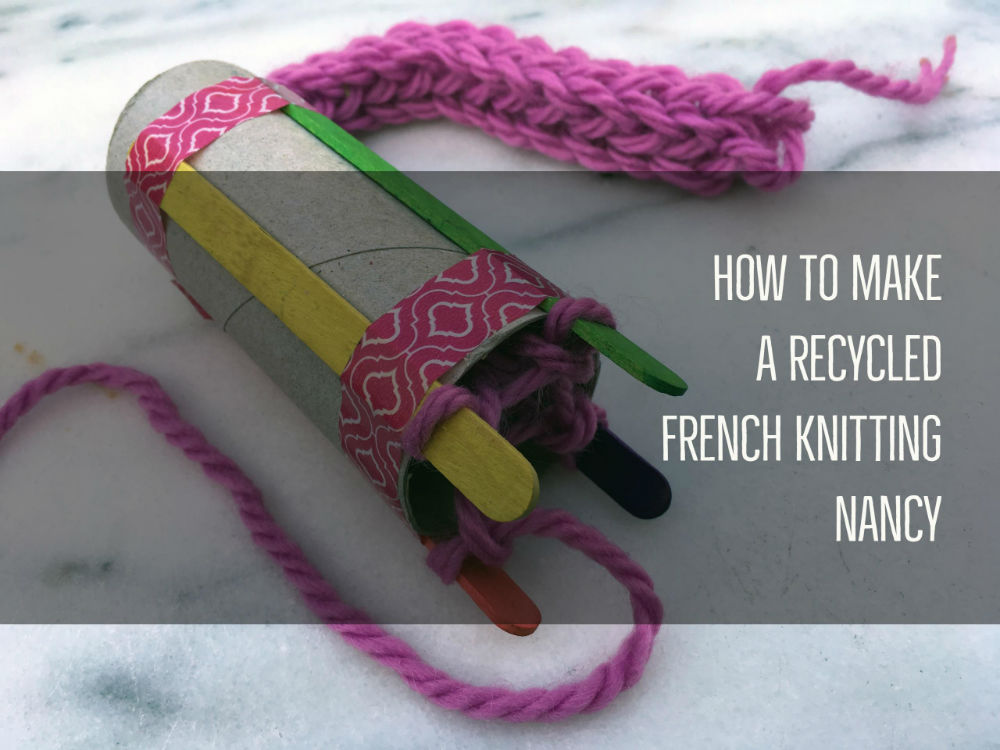 Knitting Nancy How To Use : How to make a recycled french knitting nancy red kite days