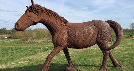 kilkenny lane country park, carterton, witney, shire horse sculpture, oxfordshire