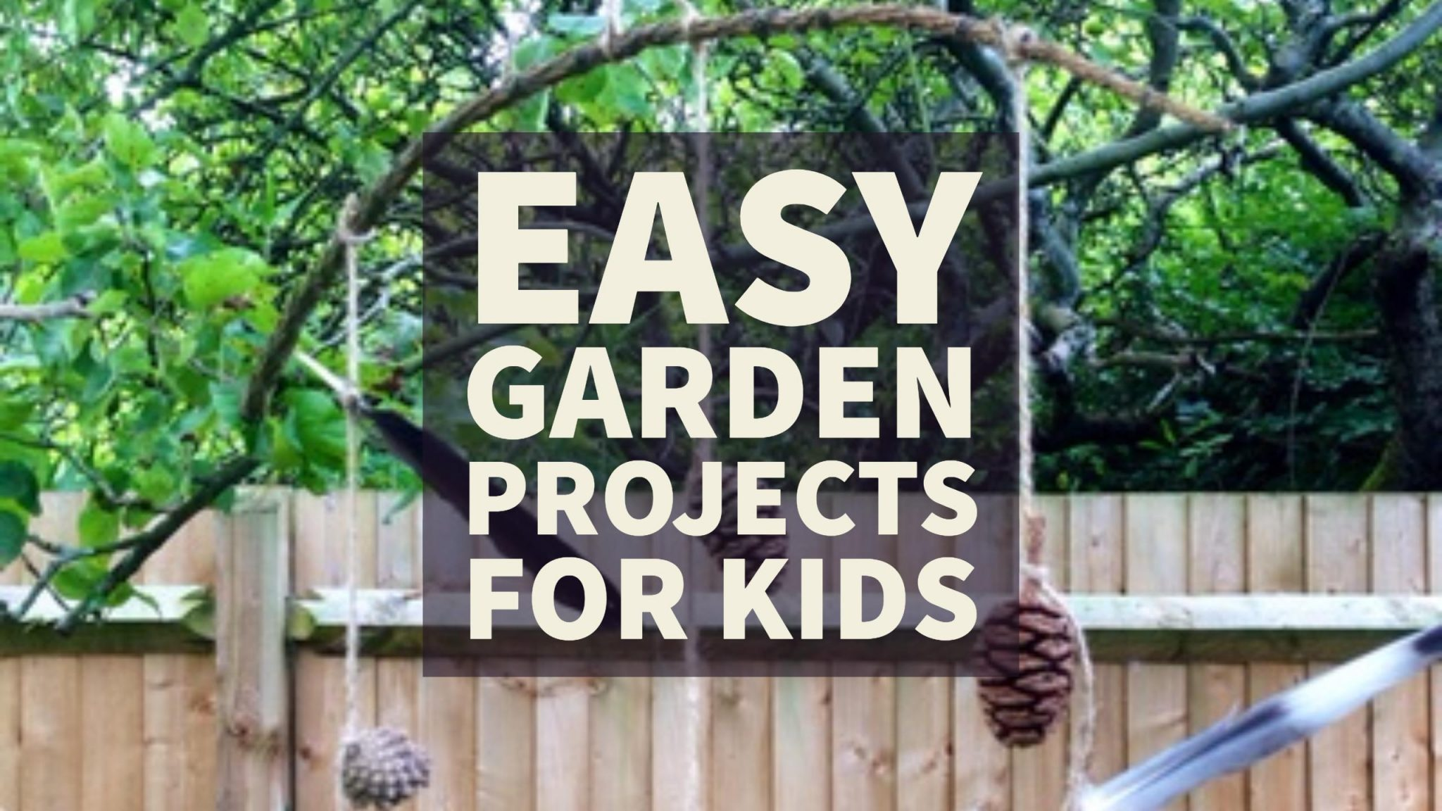 Easy Garden Projects For Kids - Red Kite Days
