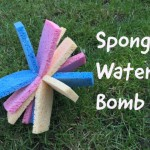 sponge water bomb, water games for kids, backyard games, kids garden games, heatwave