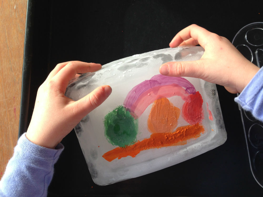 Craft Ice Painting Summer On Blocks Kids