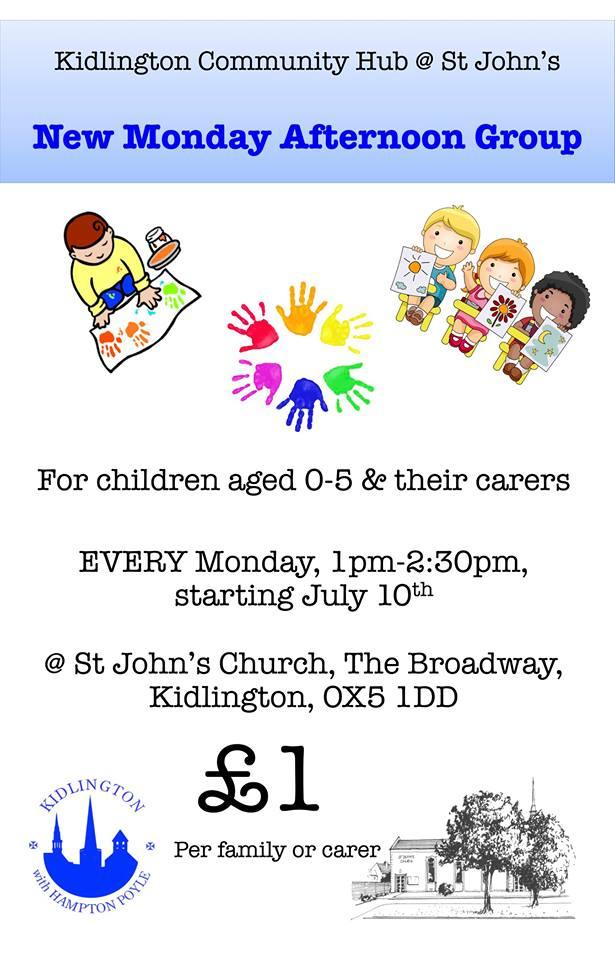 Kidlington community hub Monday sessions