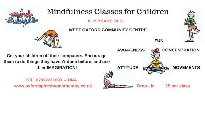 mindfullness classes for children oxfordshire