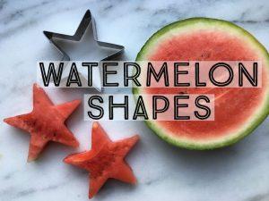 watermelon shapes, cookie cutter watermelon, watermelon stars, watermelon party food