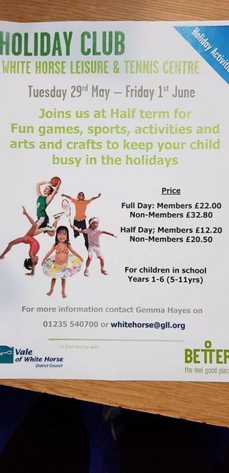 holiday club abingdon, leisure centre holiday club abingdon