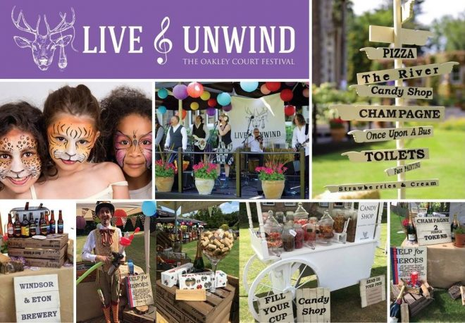 live and unwind, oakley court festival 2018, windsor oakley court festival, free family events windsor