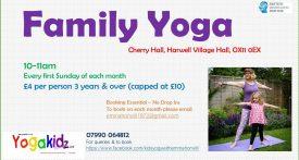 family yoga class didcot, family yoga didcot, weekend yoga class