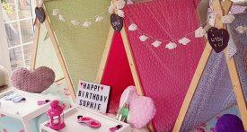 indoor tents for sleepovers, slumber party tent rentals