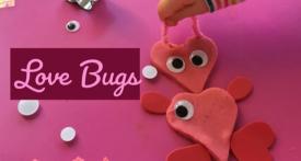 love bugs, valentine play dough, valentine toddler craft